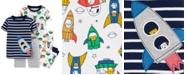 Carter's Baby Boys 4-Pc. Rocket Ship Cotton Pajamas Set