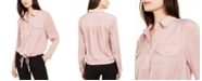 Alfani Button-Front Tie-Hem Top, Created for Macy's