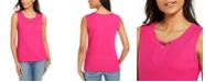Karen Scott Grommet-Trim Tank Top, Created For Macy's