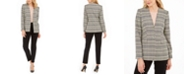 Calvin Klein Plaid Blazer, Crewneck Top & Straight-Leg Dress Pants