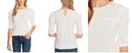 CeCe Puffed-Sleeve Knit Top