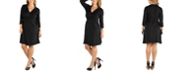 24seven Comfort Apparel Knee Length Collared Plus Size Wrap Dress