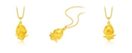 Chow Tai Fook Rooster Charm Pendant in 24K Gold