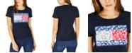 Tommy Hilfiger Floral-Print Patchwork Logo T-Shirt