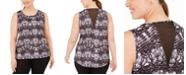 Ideology Plus Size Tie-Dyed Mesh-Back Tank Top, Created for Macy's