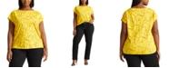 Lauren Ralph Lauren Plus-Size Print Cotton-Blend T-Shirt