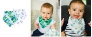tiny twinkle Baby Boys and Girls Pack of 2 Forest Bandana Bib Set