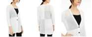 Alfani Shadow-Stripe Ribbed Cardigan, Created for Macy's