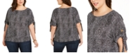 Michael Kors Plus Size Printed Top