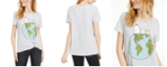 Hybrid Juniors' Snoopy Planet Earth T-Shirt