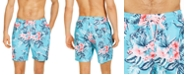 """Club Room Men's Hibiscus Floral 7"""" Swim Trunks, Created for Macy's"""