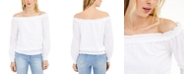 INC International Concepts INC Cotton Off-The-Shoulder Solid Blouse, Created for Macy's