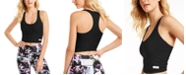 Calvin Klein Mixed-Media Cropped Tank Top