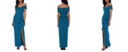 XSCAPE Off-The Shoulder Ruffled Gown
