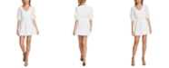 1.STATE Eyelet-Embroidered Ruffled-Hem Mini Dress