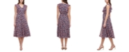 Tommy Hilfiger Petite Gansette Ruffled Floral-Print Dress