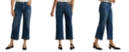 Lucky Brand Mid-Rise Wide-Leg Cropped Jeans