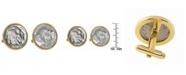 American Coin Treasures Buffalo Nickel Bezel Coin Cuff Links