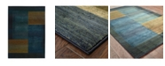 "JHB Design Kismet KIS010 Blue 6'7"" x 9'1"" Area Rug"