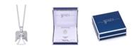 "Unwritten Gratitude & Grace Silver Plated Cubic Zirconia Angel Necklace, 16""+2"" Extender"
