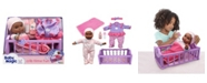 Redbox Baby Magic Crib Time Fun Play Set with Toy Baby Doll Makes 6 Sounds