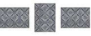 """Global Rug Designs Haven Hav12 Blue and Gray 3'3"""" x 5'2"""" Area Rug"""