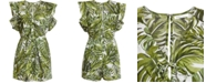BCBGeneration Tropical-Print Ruffled Romper