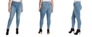 Jessica Simpson Trendy Plus Size Infinite Asymmetrical Skinny Jeans