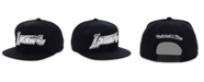 Mitchell & Ness Los Angeles Lakers Black and Silver Snapback Cap