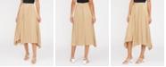 Lucy Paris Avery Pleated Asymmetrical-Hem Skirt