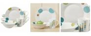 Gibson Home Retro Specks 12 Piece Stoneware Dinnerware Set