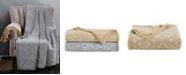 American Heritage Textiles Oversized Damask Cotton Throw