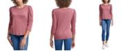 Calvin Klein Jeans Puff-Sleeve Scoop-Neck Top