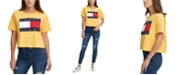 Tommy Jeans Cropped Cotton Flag Logo T-Shirt