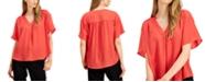 Alfani Shirred V-Neck Dolman-Sleeve Top, Created for Macy's