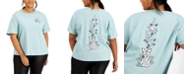 Rebellious One Trendy Plus Size Cotton Rose Graphic-Print T-Shirt
