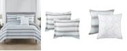 Mytex Relaxed Stripe Reversible 5-Pc King Comforter Set
