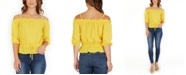 BCX Juniors' Ruffled Off-The-Shoulder Top