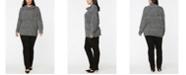 NYDJ Women's Plus Size Chunky Turtleneck Sweater
