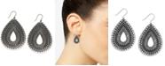 Lucky Brand Silver-Tone Tribal Teardrop Earrings