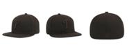 New Era Kids' Philadelphia Phillies MLB Black on Black Fashion 59FIFTY Cap