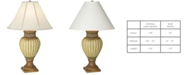 Kathy Ireland Pacific Coast Ribbed Jar With Leaves Table Lamp