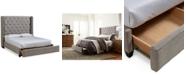 Furniture Rosalind Upholstered Storage Platform King Bed