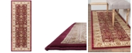 """KM Home CLOSEOUT! Oxford Kashan Red 2'7"""" x 7'3"""" Runner Area Rug"""