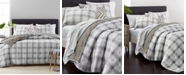 Martha Stewart Collection CLOSEOUT! Plaid Mist Quilt and Sham Collection, Created for Macy's