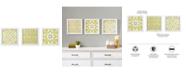 JLA Home Madison Park Tuscan Tiles 3-Pc. Framed Gel-Coated Wall Art Set