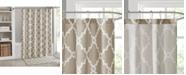 "Madison Park Merritt Fretwork-Print 72"" Square Shower Curtain"