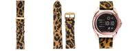 VogueStrap Smart Buddie Platinum Cheetah-Print Leather Strap for 22mm Smart Watch