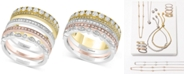 EFFY Collection Trio by EFFY® Diamond 4-Pc. Set Stack-Look Rings (1 ct. t.w.) in 14k Gold, White Gold & Rose Gold
