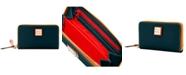 Dooney & Bourke Zip Around Pebble Leather Wristlet